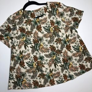MO:VINT Linen Tropical Swing Top